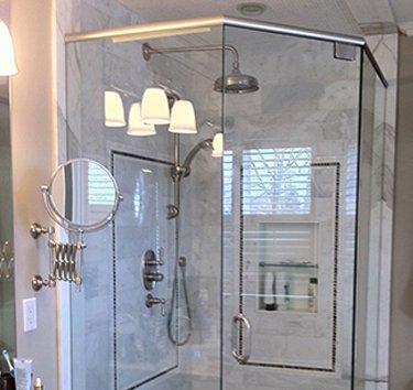 neo angle shower glass